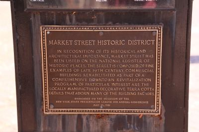 Market Street Historic District Marker image. Click for full size.