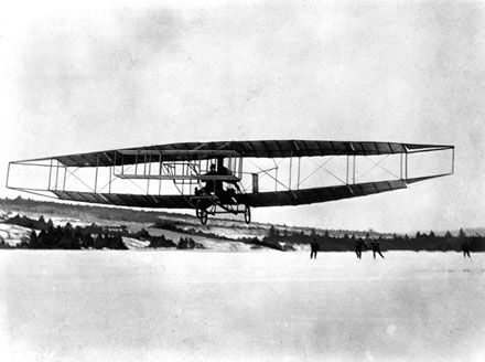 The First Airplane Flight in Canada image. Click for full size.