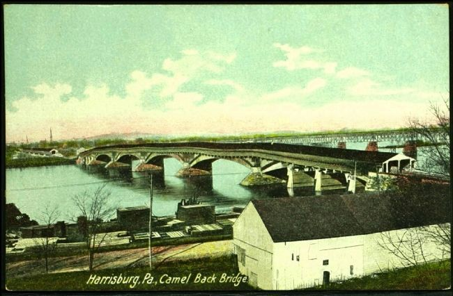<i>Harrisburg, Pa., Camel Back Bridge</i> image. Click for full size.