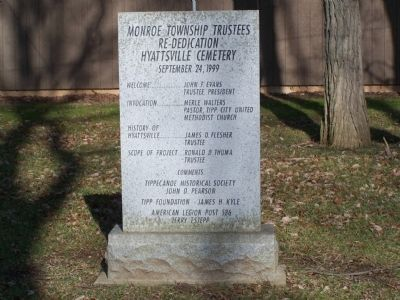 Hyattsville Cemetery Dedication Stone image. Click for full size.