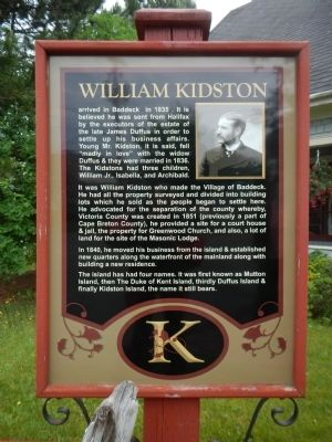 William Kidston Marker image. Click for full size.
