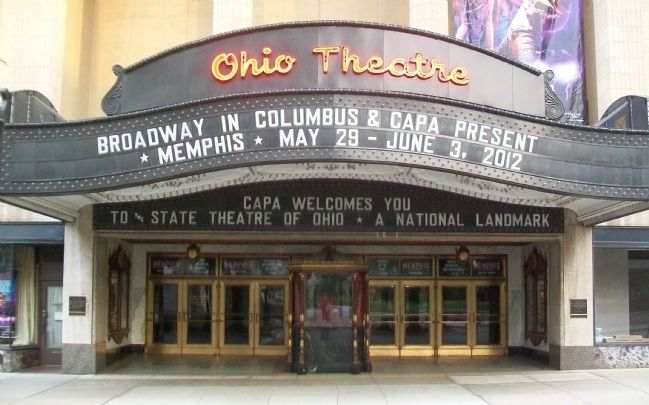 The Ohio Theater Entrance and Marquee image. Click for full size.