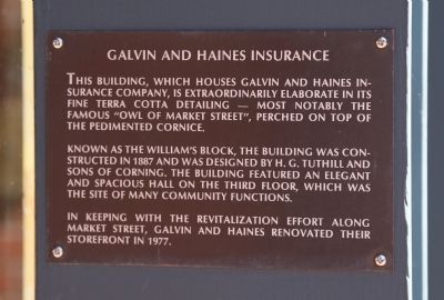 Galvin and Haines Insurance Marker image. Click for full size.