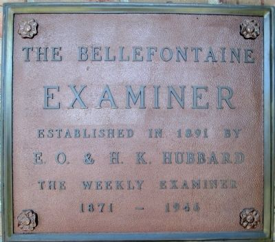 The Bellefontaine Examiner Marker image. Click for full size.