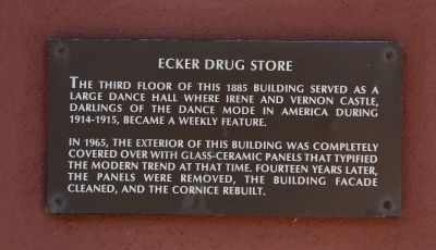 Ecker Drug Store Marker image. Click for full size.