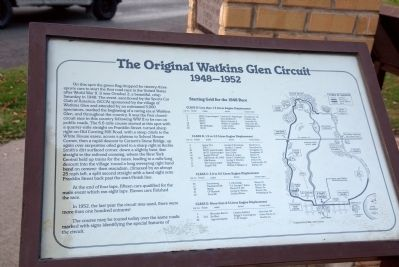 The Original Watkins Glen Circuit Marker image. Click for full size.