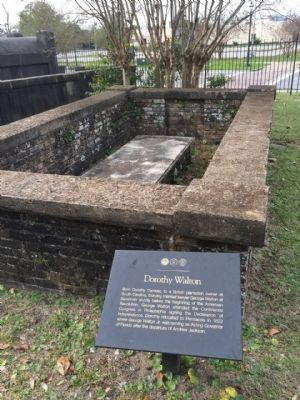 Dorothy Walton Marker and grave site image. Click for full size.