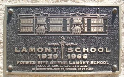 Lamont School Marker image. Click for full size.