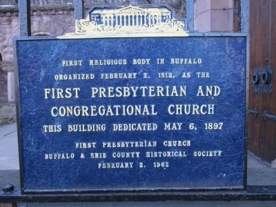 First Religious Body in Buffalo Marker image. Click for full size.