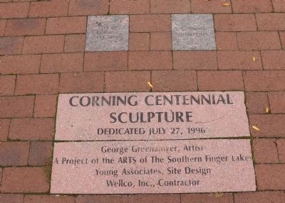 Corning Centennial Sculpture image. Click for full size.