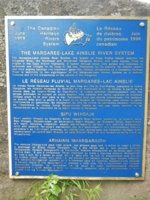 The Margaree-Lake Ainslie River System Marker image. Click for full size.