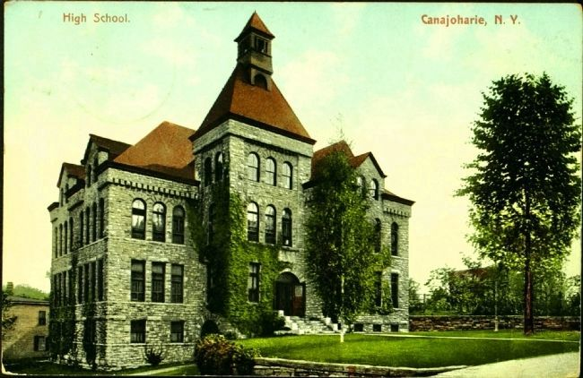 <i>High School. Canajoharie, N.Y.</i> image. Click for full size.