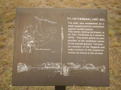 Fort Fetterman Plaque image. Click for full size.