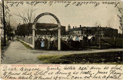 Historic Whitworth College Postcard image. Click for full size.