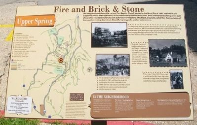 Fire and Brick & Stone Marker image. Click for full size.