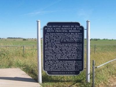 The Initial Point of the Public Land Surveys of the Sixth Principal Meridian Marker image. Click for full size.