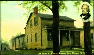 "<i>""Old Home of Millard Fillmore, East Aurora, N.Y.""</i> image. Click for full size."