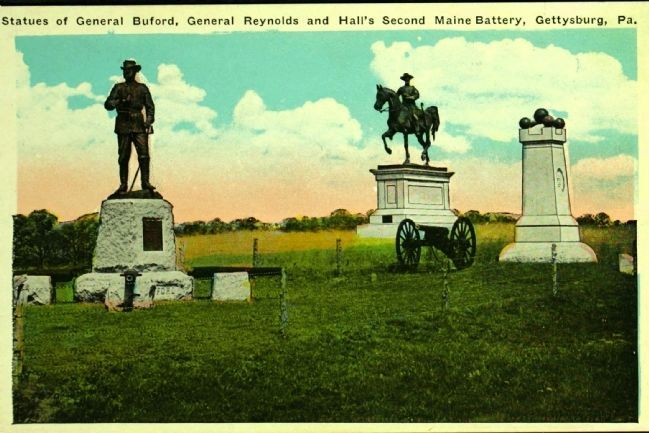 <i>...General Buford, General Reynolds and Hall&#39;s 2nd Maine Battery…</i> image. Click for full size.