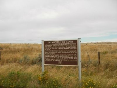 The One Mile Hog Ranch Marker image. Click for full size.