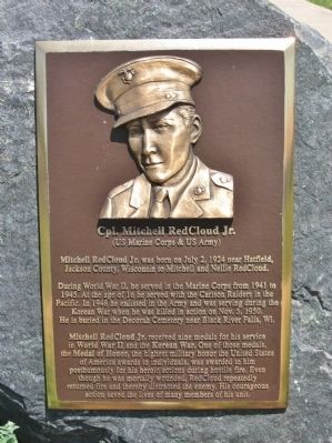 Cpl. Mitchell RedCloud Jr. Marker image. Click for full size.