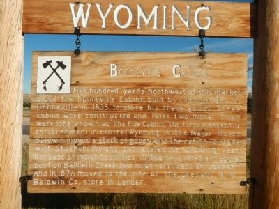 Bonneville Cabins Marker image. Click for full size.