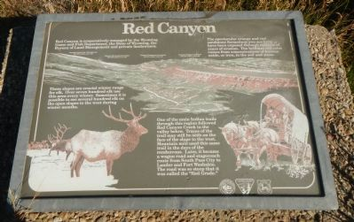 Red Canyon Marker image. Click for full size.