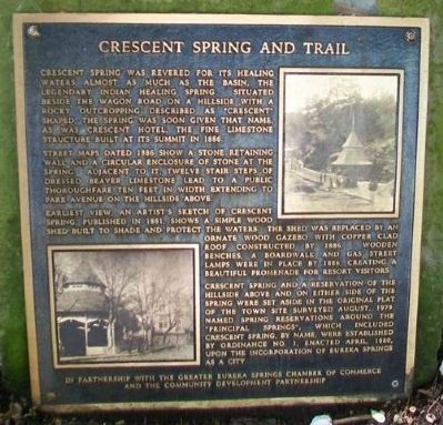 Crescent Spring and Trail Marker image. Click for full size.