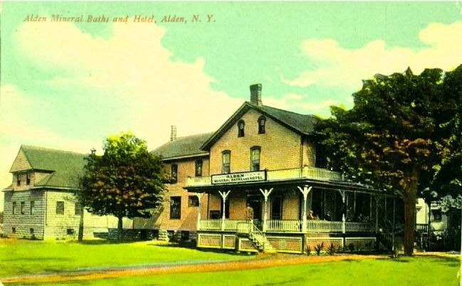 <i>Alden Mineral Baths and Hotel, Alden, N.Y.</i> image. Click for full size.