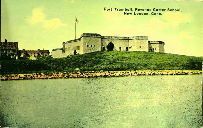 <i>Fort Trumbull, Revenue Cutter School, New London, Conn.</i> image. Click for full size.