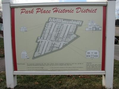 Park Place Historic District Marker image. Click for full size.
