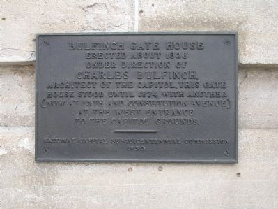 Bulfinch Gate House Marker image. Click for full size.