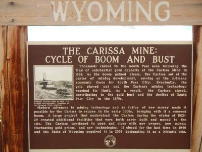 The Carissa Mine: Cycle of Boom and Bust Marker image. Click for full size.