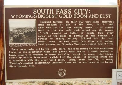South Pass City: Wyoming's Biggest Gold Boom and Bust Marker image. Click for full size.