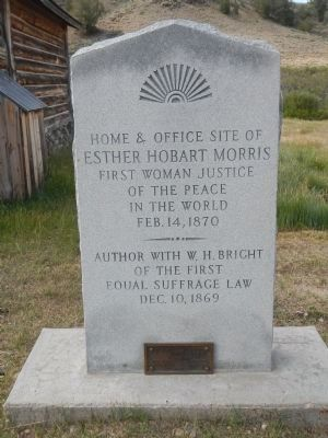 Esther Hobart Morris Marker image. Click for full size.