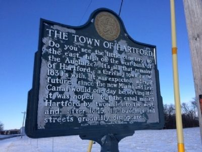 The Town of Hartford Marker image. Click for full size.