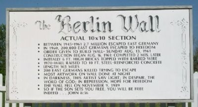 The Berlin Wall Marker image. Click for full size.