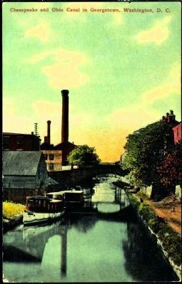 <i>The Chesapeake and Ohio Canal in Georgetown, Washington, D.C.</i> image. Click for full size.
