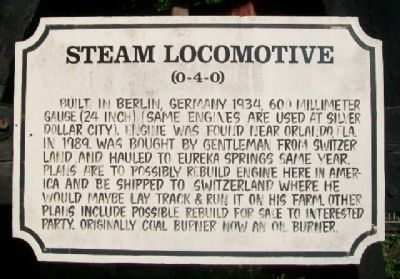 Steam Locomotive Marker image. Click for full size.