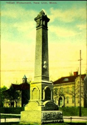 <i>Indian Monument, New Ulm, Minn.</i> image. Click for full size.