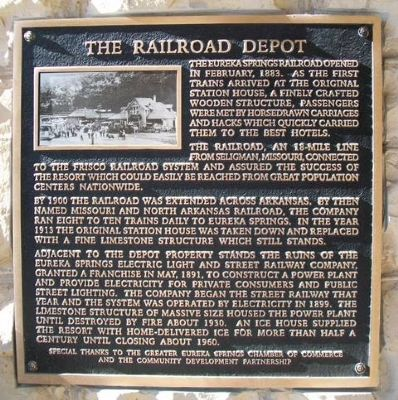 The Railroad Depot Marker image. Click for full size.