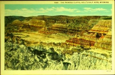 <i>The Painted Cliffs, Hell&#39;s Half Acre, Wyoming</i> image. Click for full size.