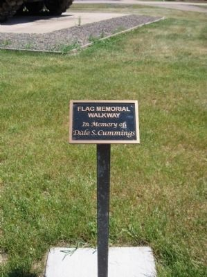 Flag Memorial Walkway Plaque image. Click for full size.