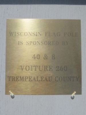 Wisconsin Flag Pole Brass Plate image. Click for full size.