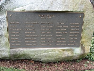 Darien World War II Memorial image. Click for full size.