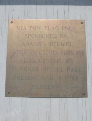 <small>MIA POW</small> Flag Pole Brass Plate image. Click for full size.