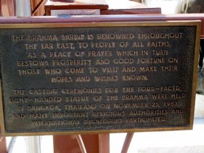 The Brahma Shrine Marker image. Click for full size.