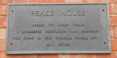 Peake House Marker image. Click for full size.