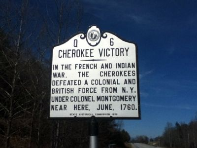 Cherokee Victory Marker image. Click for full size.