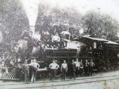 Steam Engine Photo on The Town that Water Built Marker image. Click for full size.