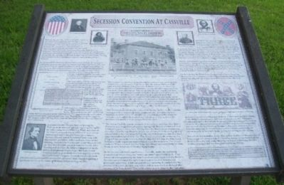 Secession Convention in Cassville Marker image. Click for full size.